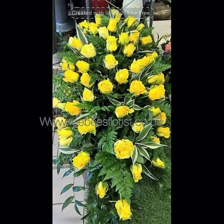 Yellow Rose Casket