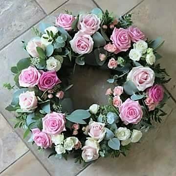 Pink Satin Wreath