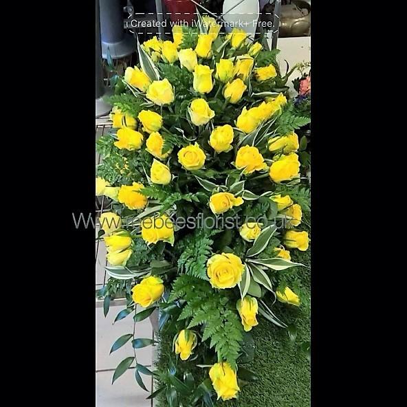 Yellow Rose Casket