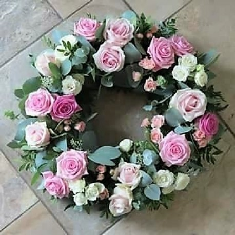Pink Satin Wreath